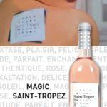 Affiche publicitaire cuvée vin rosée du Var. Crédit photo LUZ