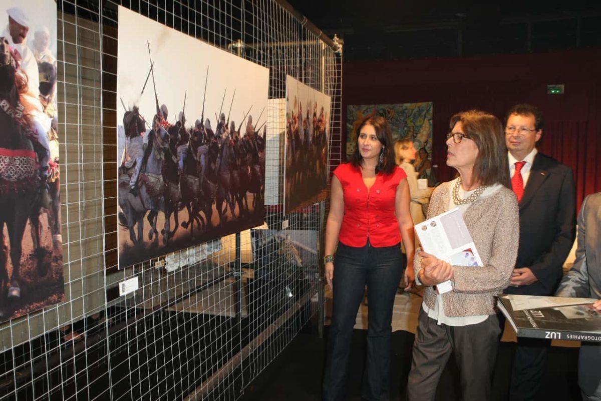 Exposition de la photographe Luz en présence de Caroline de Monaco