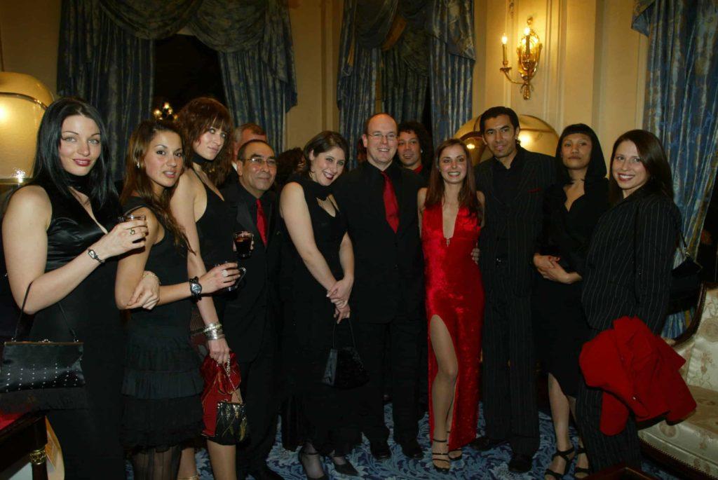 En présence du Prince Albert de Monaco