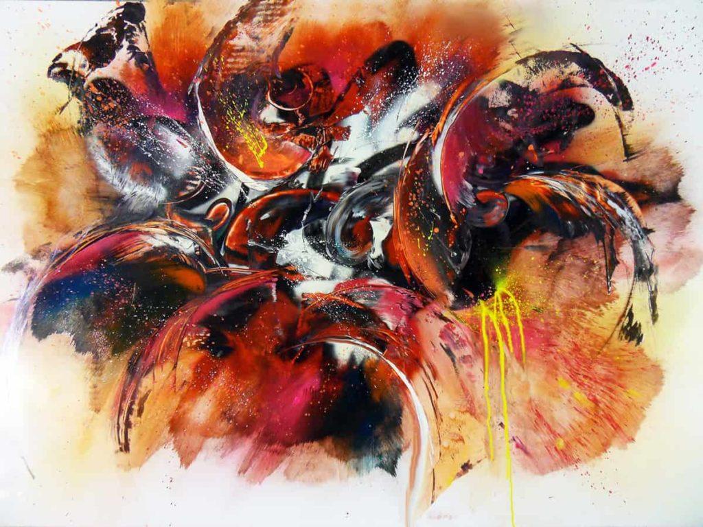 Bombes sur papier, 2018 | 100 x 70 cm