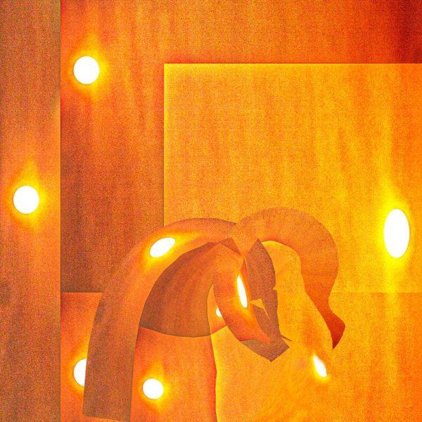 Oeuvre éclatante, tons orangés | Paradox'Art