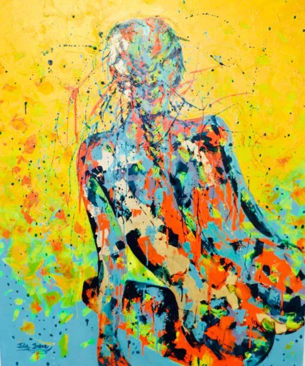 Acrylique et feuilles d'or sur toile | Julie Dalloz