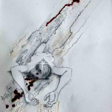 Baigneuse n°2 Aquarelle | Nu Contemporain