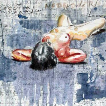 Baigneuse n°6 Aquarelle | Nu Contemporain