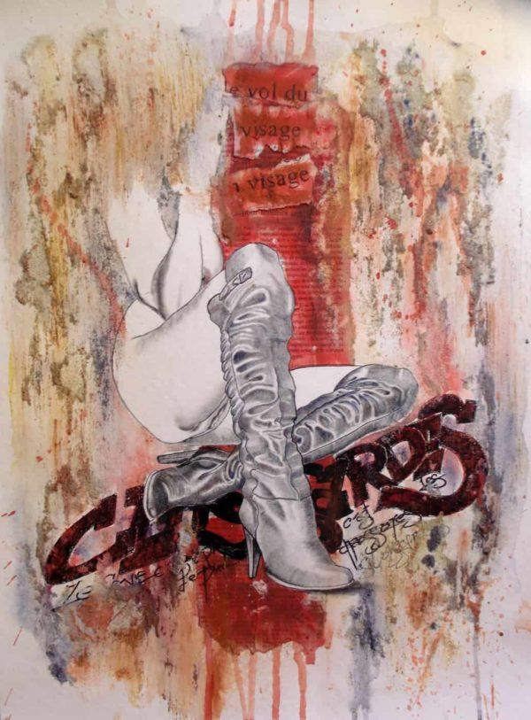 Peinture Gier | Série « Le sexe c'est pas l'pied, c'est la chaussure ! »