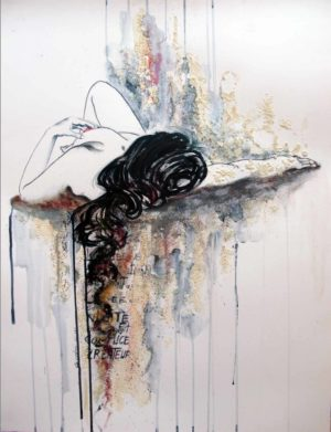 Baigneuse n°1 | Peinture Nu Contemporain
