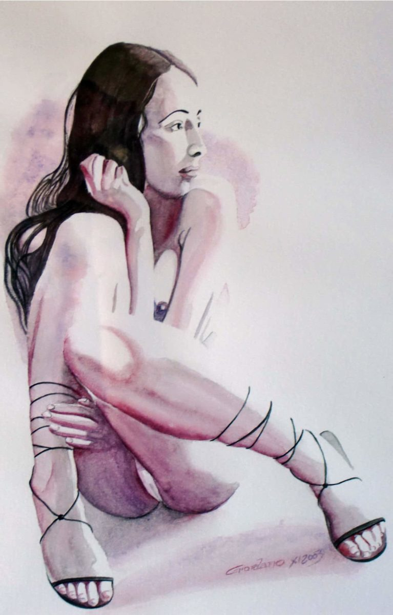 Aquarelle Nu contemporain | Gier