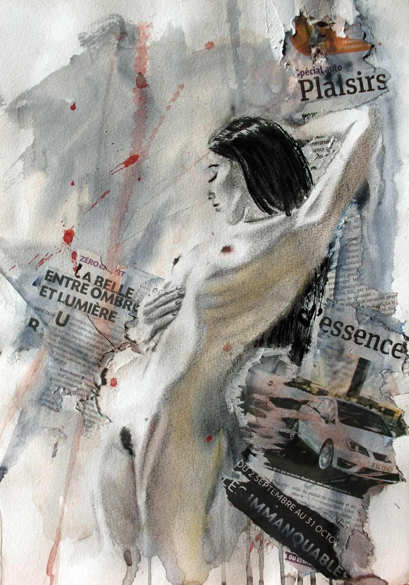 Peinture d'art érotique contemporain