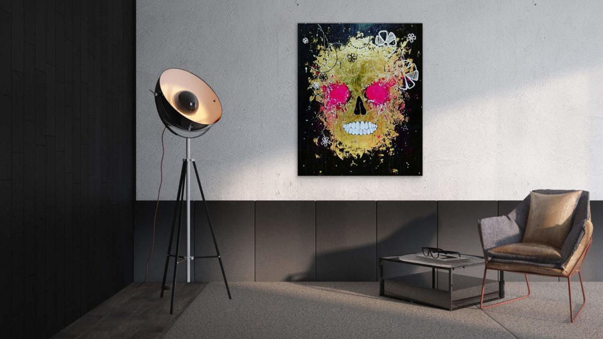 Peinture de l'artiste Julie Dalloz en exposition