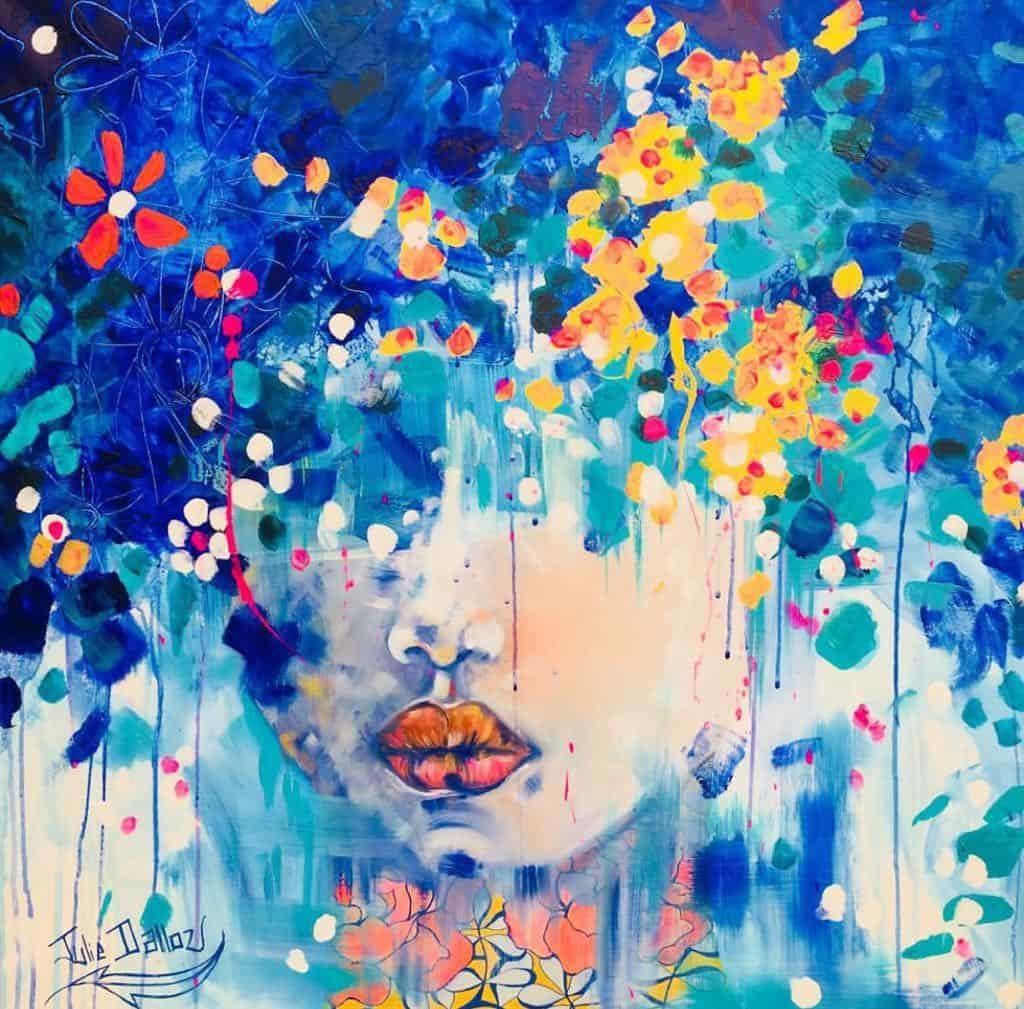 Julie Dalloz | Portrait peinture colorée