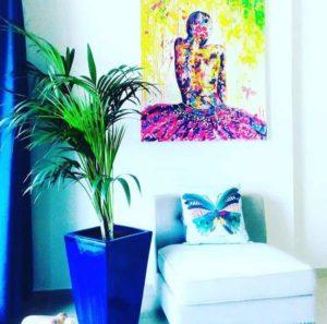 Peinture contemporaine très colorée par Julie Dalloz