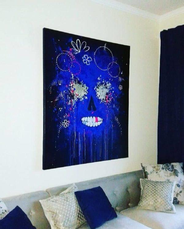 """Julia Dalloz """"Crâne"""" peinture au format Collector"""