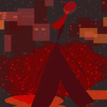 Art Digital, décoration très citadine. Couleur dominante, le rouge.