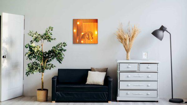 Peinture digitale très lumineuse. Nuances orangées par Paradox'Art