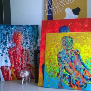 Peintures par Julie Dalloz