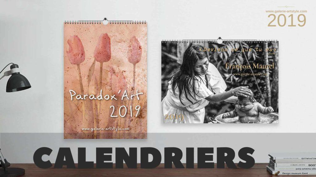 Les calendriers 2019 des artistes de la galerie