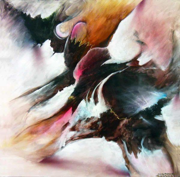Peinture à la bombe, oeuvre unique par Airgone. Format collector. Abstrait