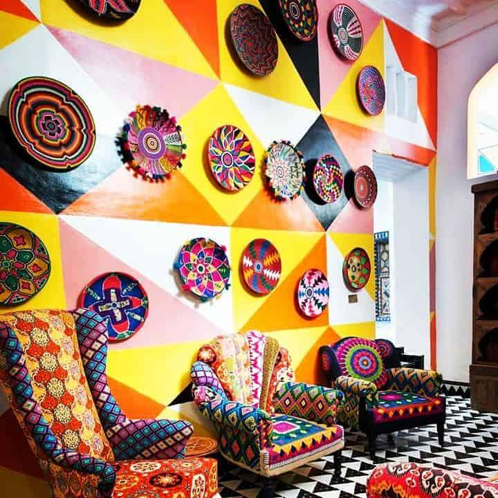 Décoration murale par Julie Dalloz, artiste peintre