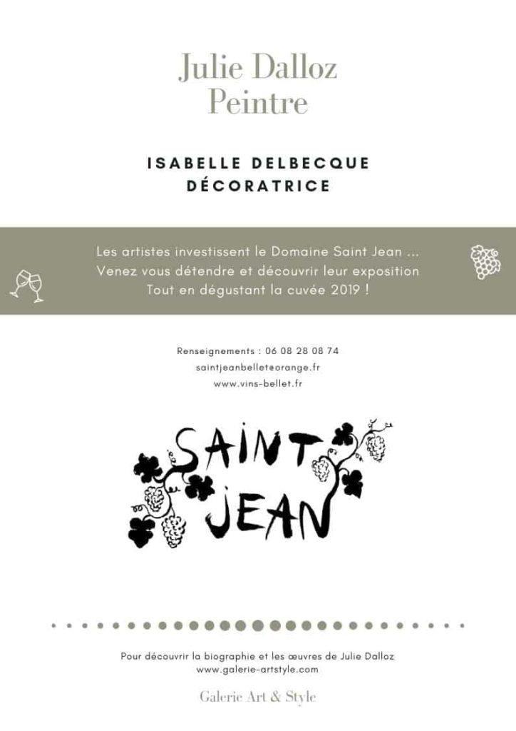 Julie Dalloz, expose au vignoble du Domaine St jean, Nice Alpes-Maritimes