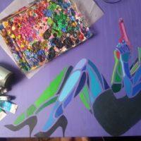 Immersion dans la réalisation d'une peinture par l'artiste MobiClint